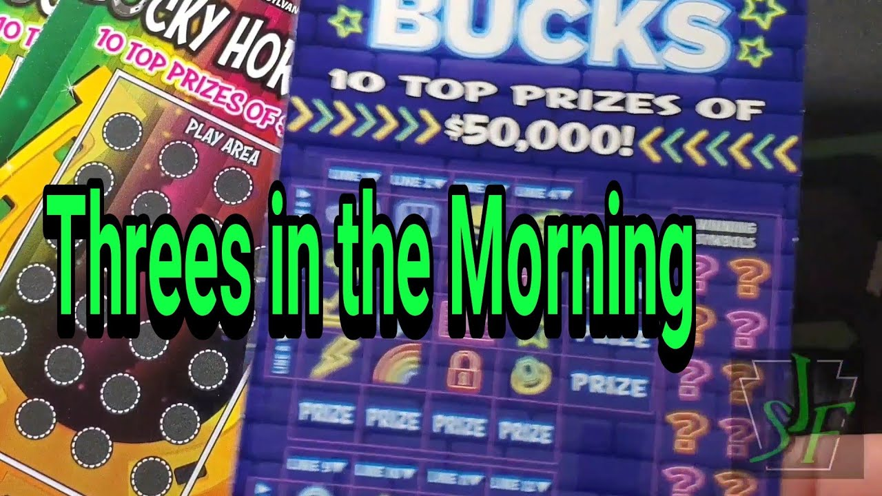 Threes in the Morning for the Win. Hitting the profit zone. Pa Lottery Scratch Tickets