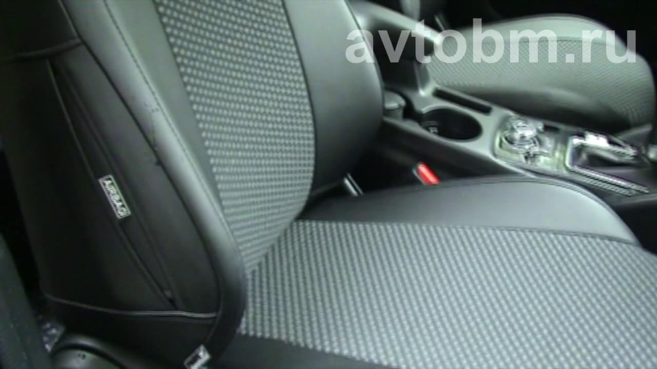 Установка авточехлов «B&M» на сиденья автомобиля «Мазда СХ 5» рестайлинг с 2015 г.в.
