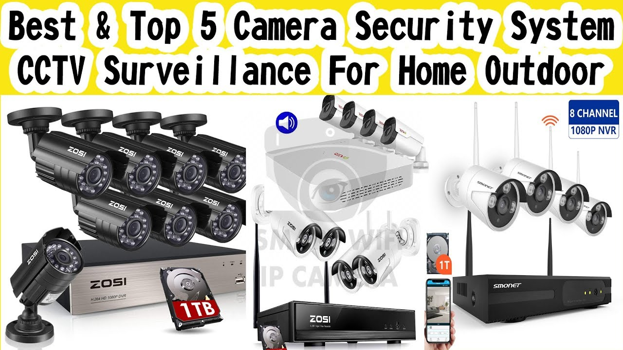 Best & Top 5 Camera Security System CCTV #Surveillance For Home Outdoor on amazon