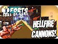 Forts Multiplayer 4v4 Gameplay Deadly Hellfire Cannons