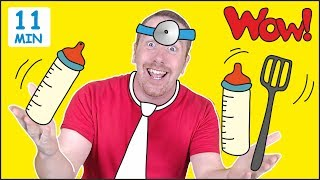 Jobs for Kids + MORE Fun Speaking Stories for Children from Steve and Maggie | Learn Wow English TV thumbnail