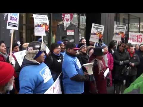 IRA ACTION ON RAISING THE MINIMUM WAGE DOWNTOWN CHICAGO