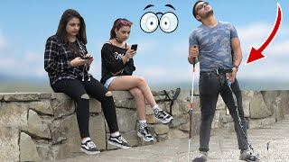 Blindman Peeing in Public Prank!  💃  -  AWESOME REACTIONS | Best of Just For Laughs
