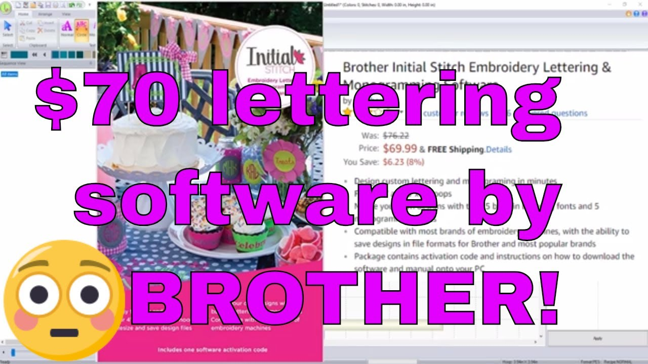Brother Monogramming and Lettering Software: Initial Stitch for $70!!