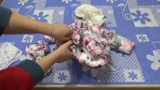 Зимний-осенний комбинезон-трансформер для детей от 0 до 6 месяцев