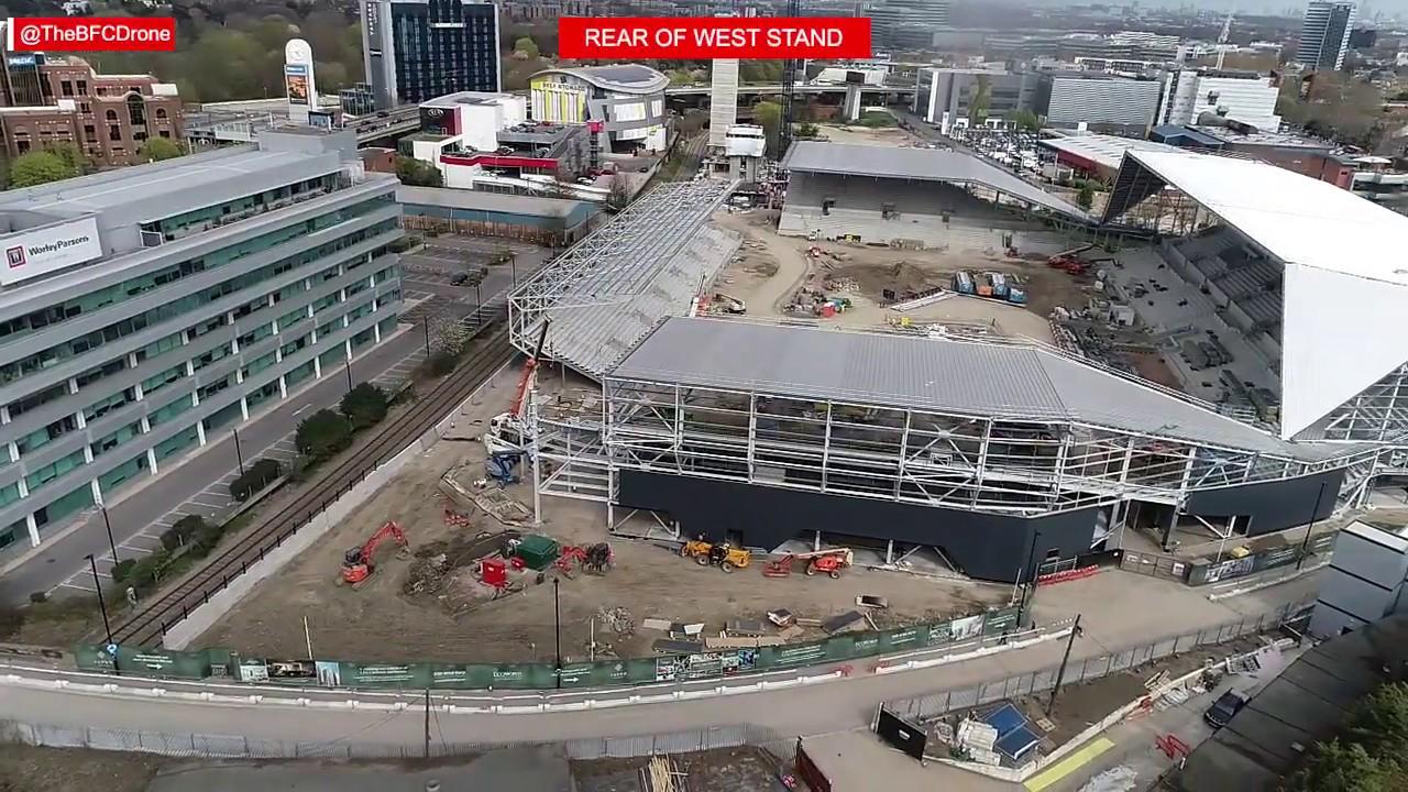 Brentford FC's New Stadium March 2019 Update - YouTube