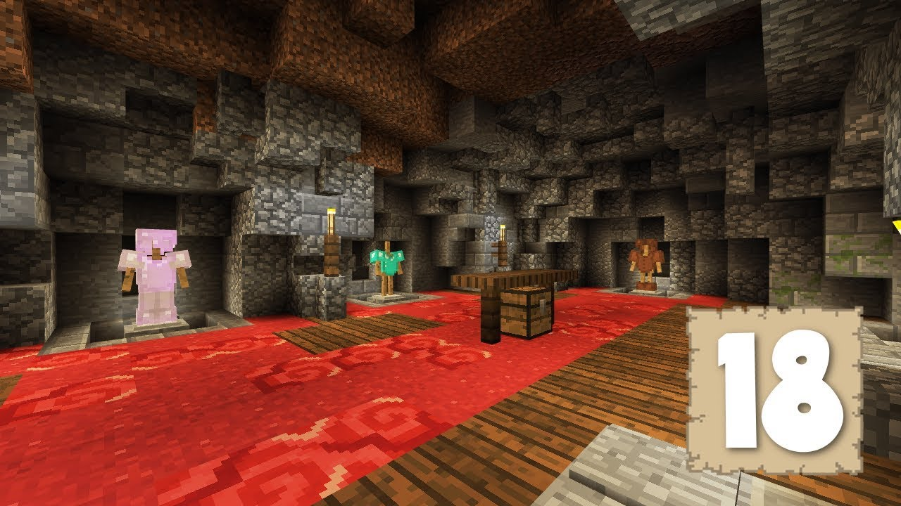 THE ARMOR ROOM Or CAVE Survival Let s Play Ep 18