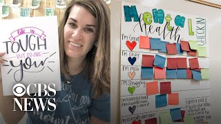 """Teacher's """"mental health check in"""" for students goes viral"""