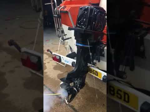 80hp eclectic start outboard running