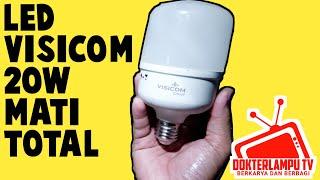 Praktek cara  memperbaiki lampu led visicom 20 watt mati total dokterlampu tv.