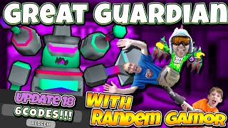 Ghost Simulator Great Guardian Battle & Data Link With Randem Gamor 👻Godly Pet Code (Roblox)