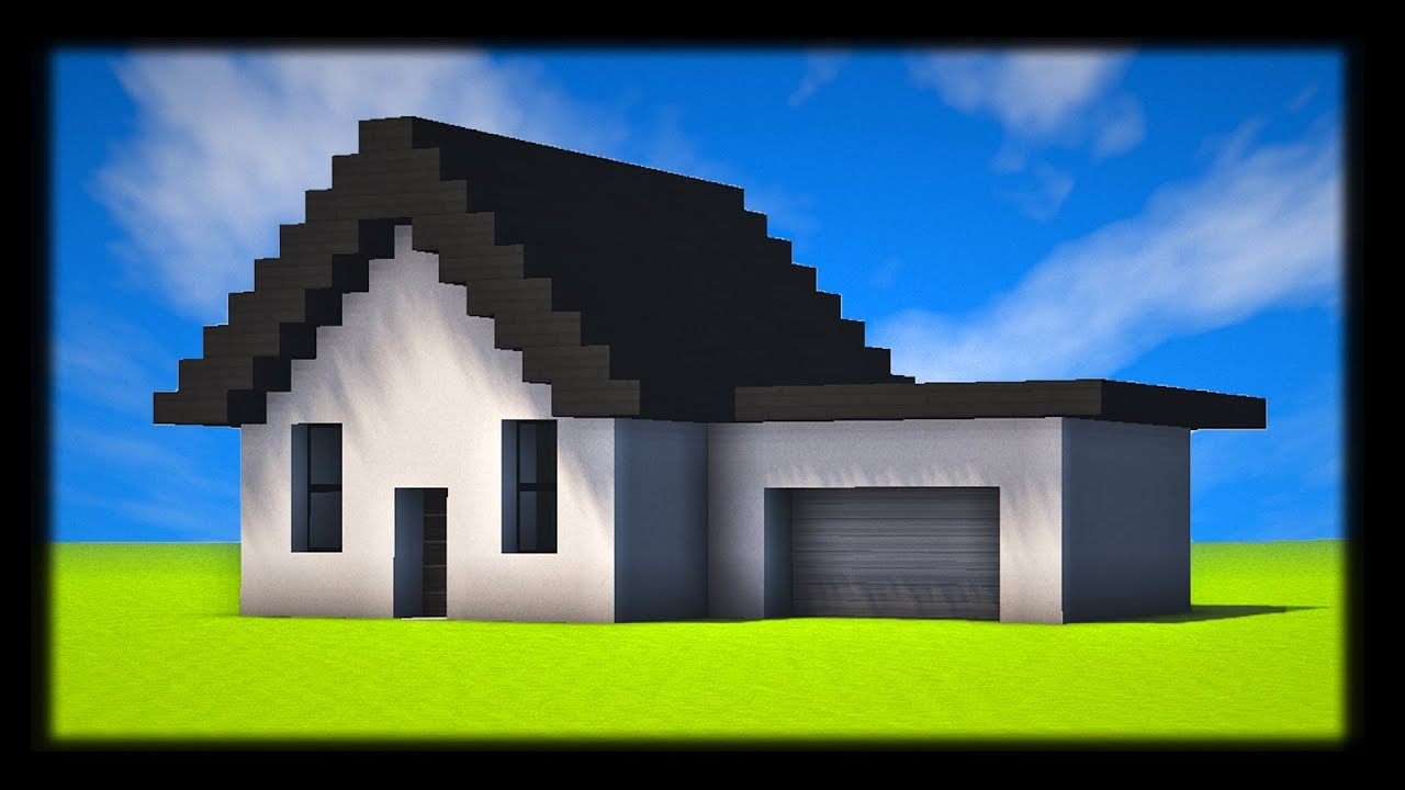 Comment construire une petite maison moderne tuto build for Minecraft maison moderne plan