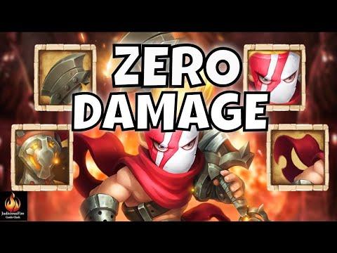 WORDLESS ZEALOT ZERO DAMAGE! Castle Clash Best Heroes