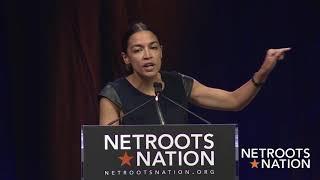 Alexandria Ocasio-Cortez Closing Keynote Netroots Nation 2018