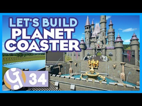 🏰 Castle Water Display | Preparing For Fireworks! | Let's Build Planet Coaster #34