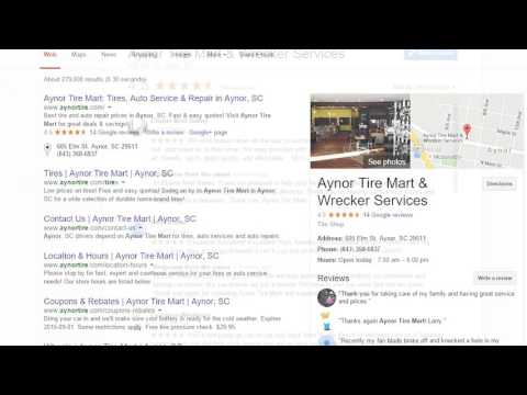 Aynor Tire Mart Wrecker Services Youtube