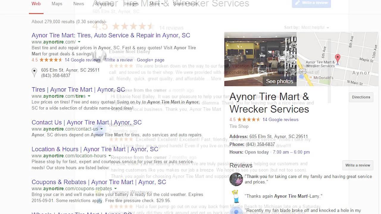 Aynor Tire Mart Aynor Sc How To Leave A Review Youtube