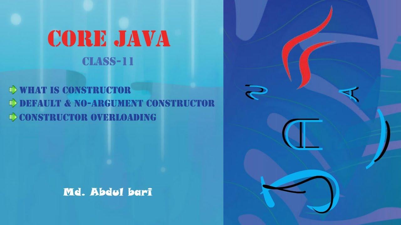 Core java bangla tutorialconstructor concept class 11 youtube core java bangla tutorialconstructor concept class 11 baditri Image collections