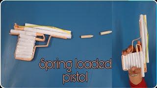 how to make airsoft gunpaper pistolorigami pistolspring loaded trigger