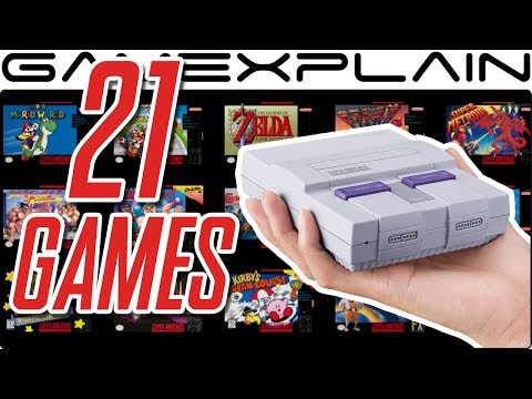 Super NES Classic: 1 Minute of All 21 Games (Gameplay)