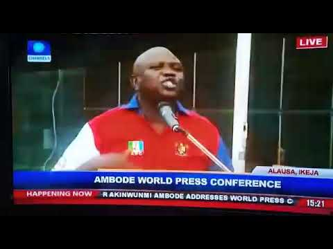 Image result for Ambode world press conference ongoing