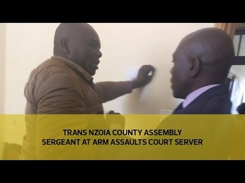 Trans Nzoia county assembly sergeant at arm assaults court server