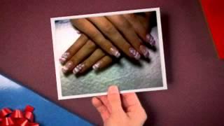 Pastel Airbrush  / Acrylic Nail Art Design Combo