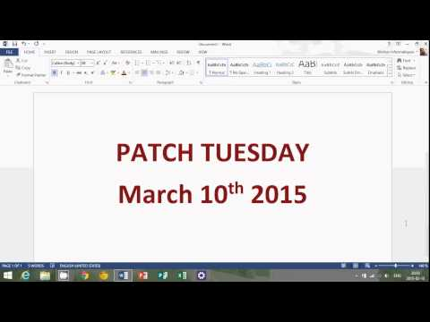 Windows 8.1 Microsoft Patch Tuesday updates security news march 10th 2015