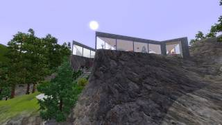 The Sims 3 - Building A Cliffside House
