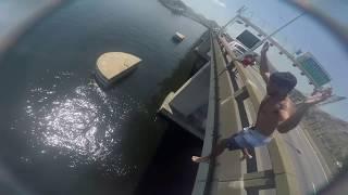 Pulou da ponte mais alta do RJ Ponte Rio-Niterói - Desafio