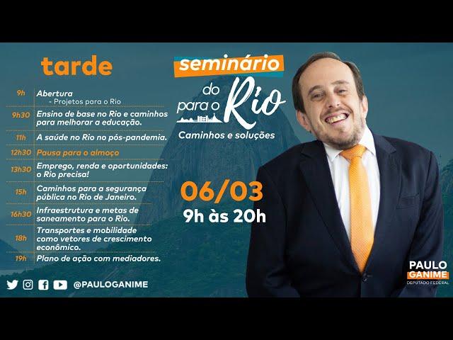#DORIOPARAORIO Caminhos e Soluções - Emprego & Renda,  Segurança, Saneamento e Transportes (Tarde)