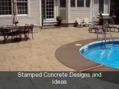 stamped concrete designs and ideas youtube - Stamped Concrete Design Ideas
