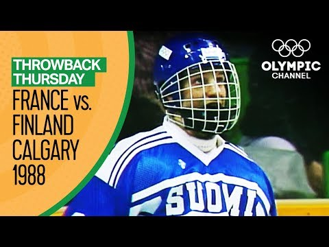France V Finland - Men's Ice Hockey Condensed Game - Calgary 1988 | Throwback Thursday