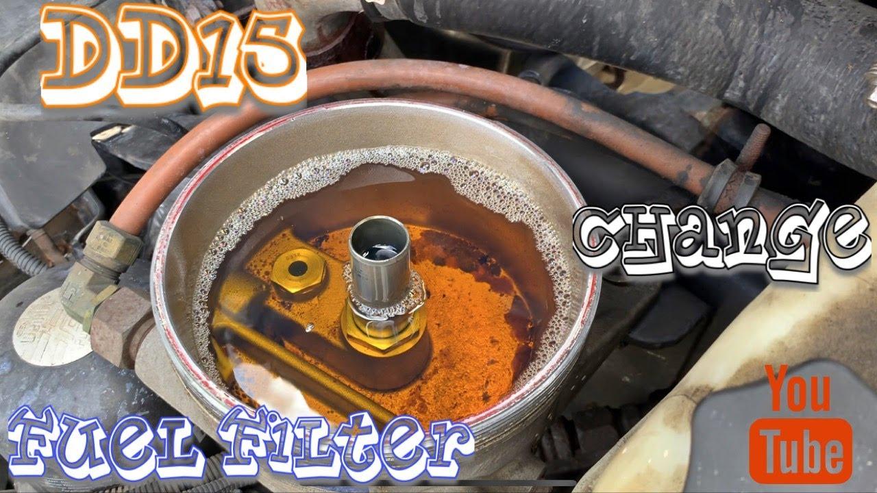 DD15 Fuel Filter Change