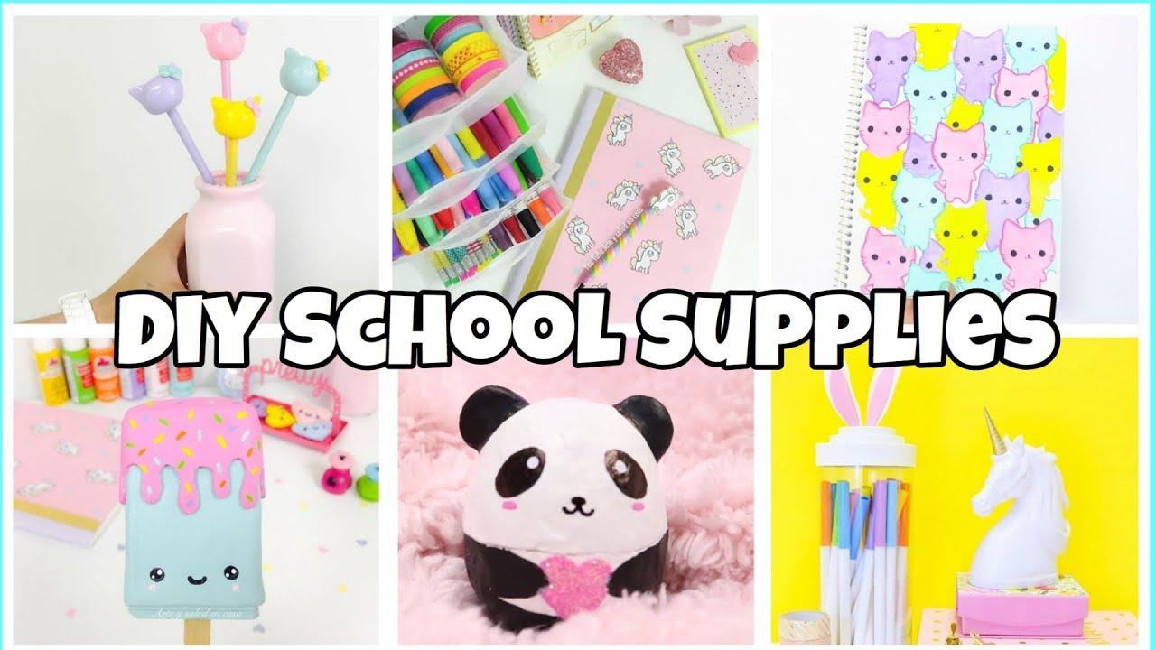 6 Back To School Supplies Notebooks Pencil Case Easy Diy School