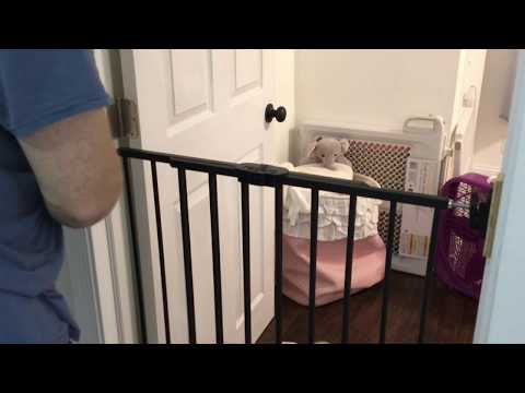 How To Install The Regalo Extra Tall Child And Baby Safety Gate For Stairs And Doors