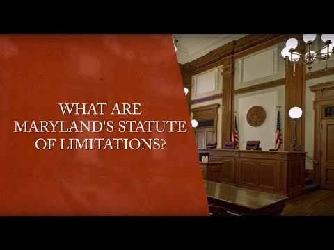 What Are Maryland's Statute of Limitations on Personal Injury Claims?
