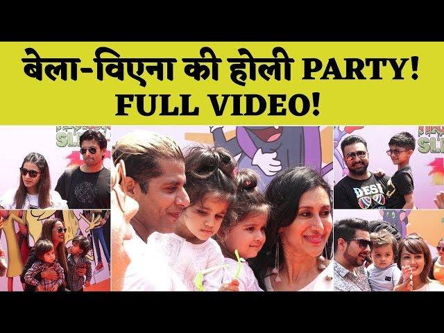 Karanvir Bohra के Twins Bella & Vienna की HOLI Party में बच्चों के साथ दिखे TV ACTORS