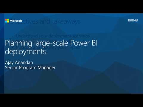 Planning Large-Scale Power BI Deployments