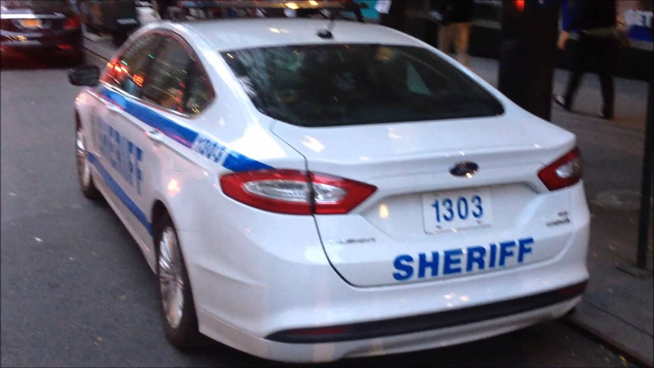 new york city sheriffs new ford fusion police car in manhattan youtube. Black Bedroom Furniture Sets. Home Design Ideas