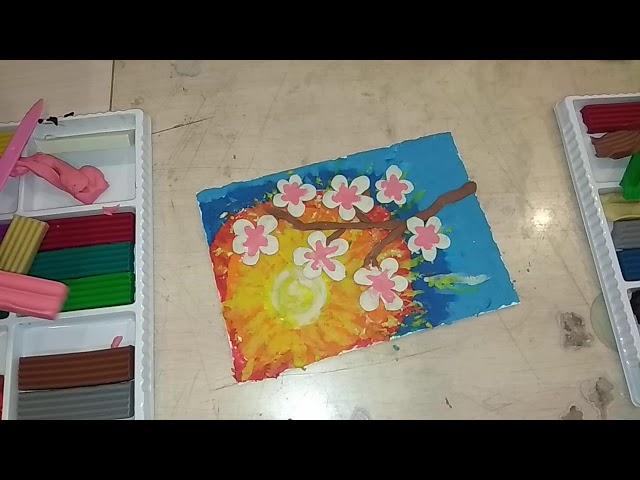 Гордеева И  Умельцы Оригами   Рисование пластилином Сакура  Часть 223 04 2020