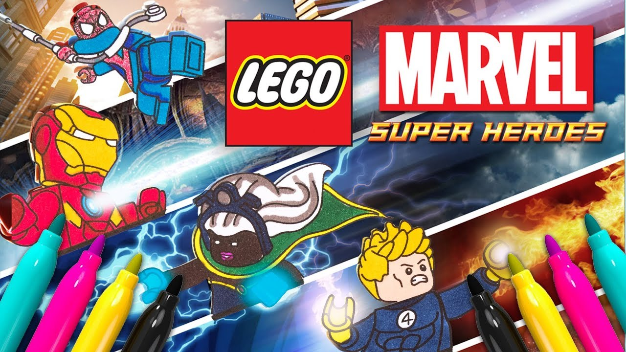 Lego Superheroes Coloring Page Marvel Avengers Coloring