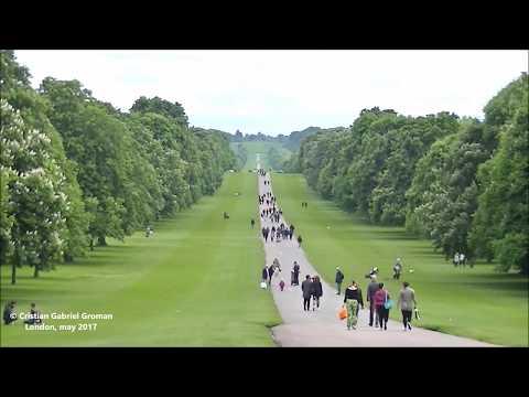Queen Elizabeth Long Walk at Windsor Castle. The State Entrance. England.