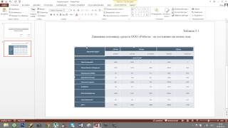 Построение презентации ВКР
