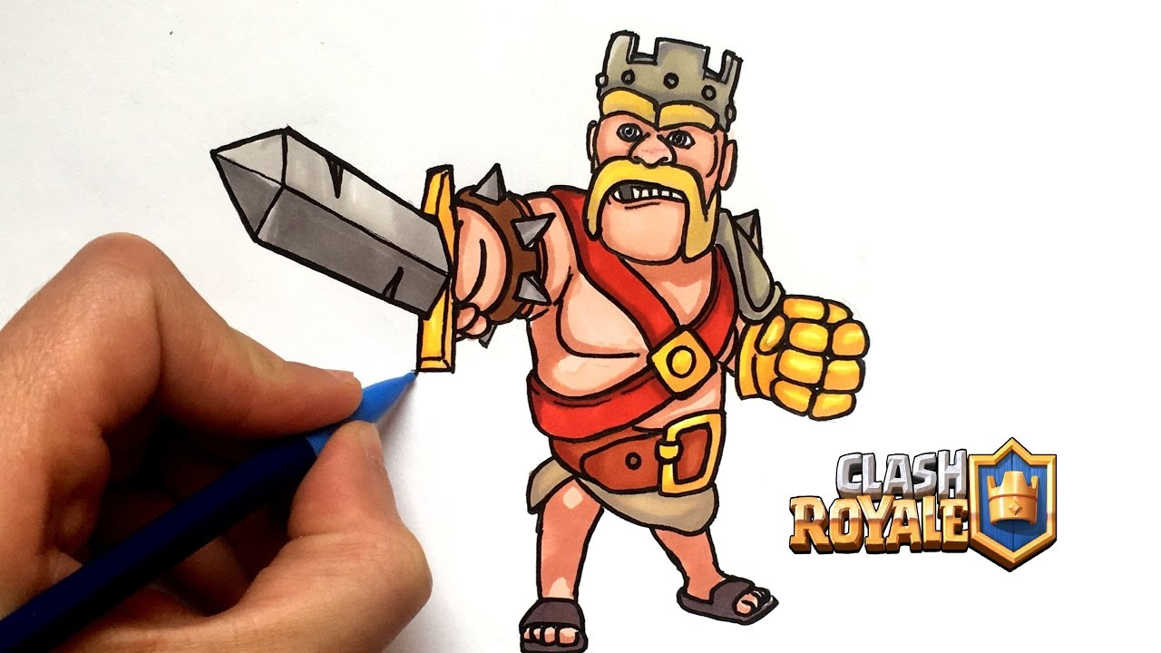 Draw King Barbarian Clash Royale