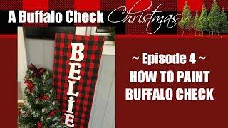 BUFFALO CHECK CHRISTMAS EP.4 // HOW TO PAINT BUFFALO CHECK