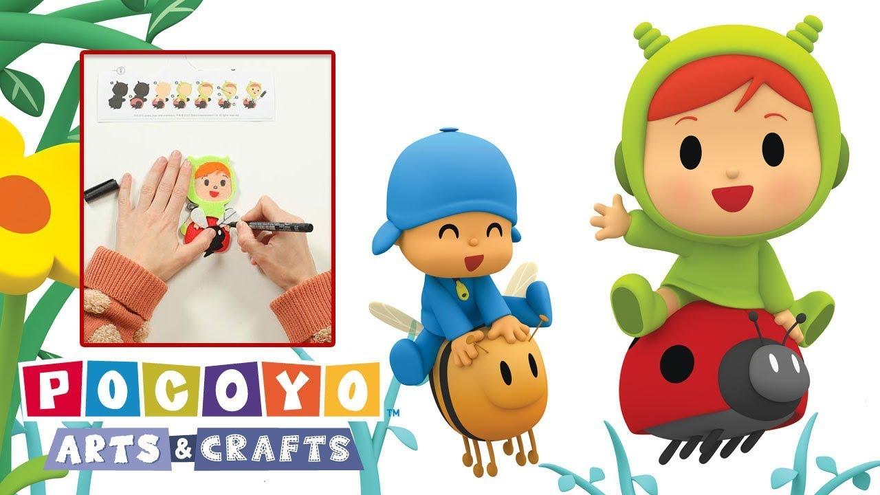 Pocoyo Arts Crafts Broche De Nina Para San Valentín