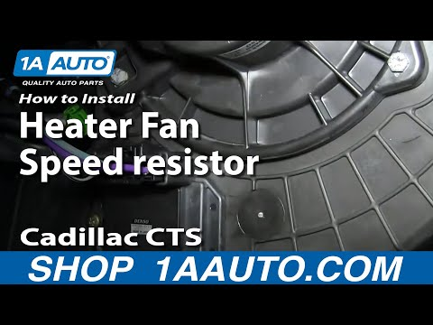How To Replace Heater Fan Speed Resistor 03 10 Cadillac CTS