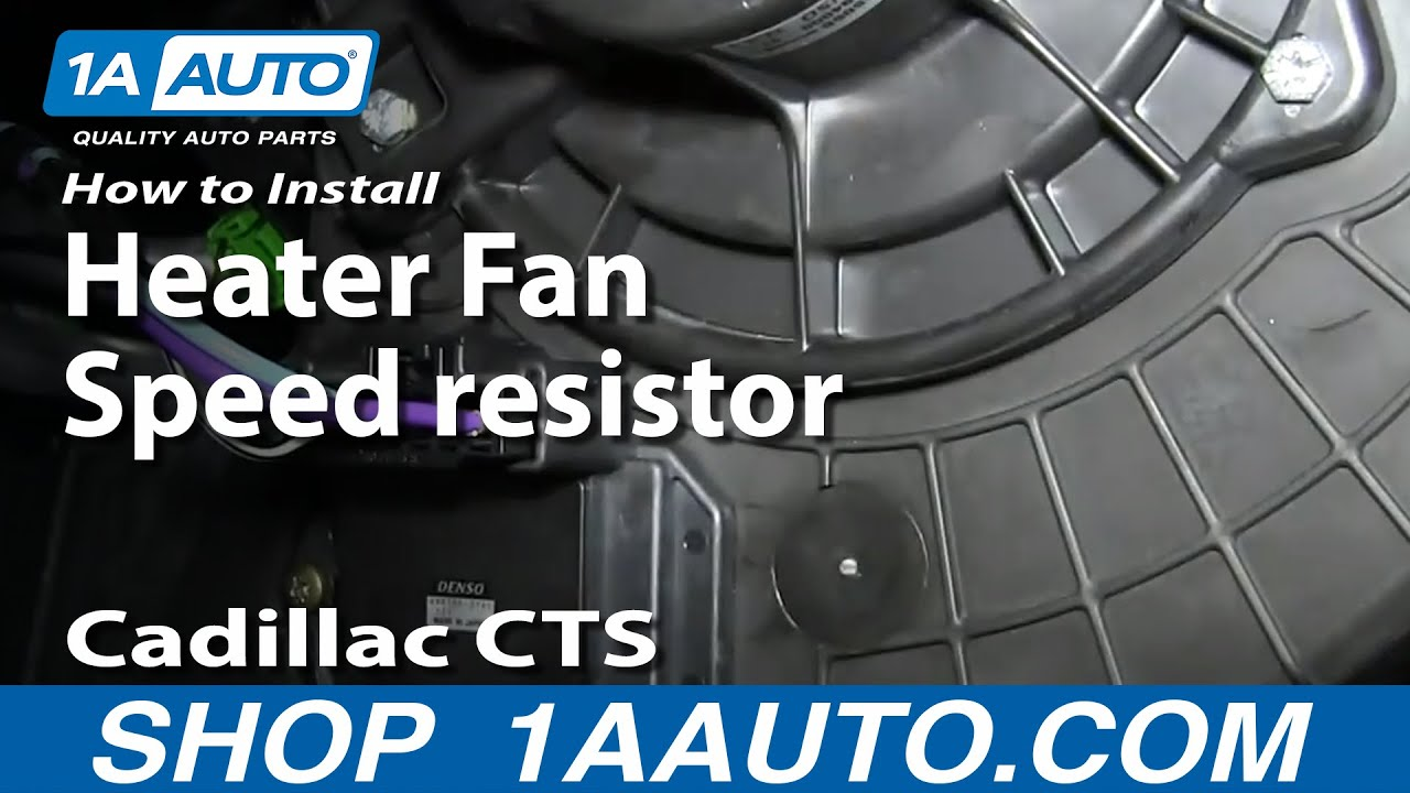 How To Install Replace Heater Ac Blower Fan Speed Resistor 2003 10 Cadillac Cts Youtube