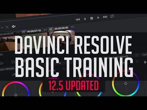 Resolve 12.5 Basics - DaVinci Resolve End-To-End Crash Course